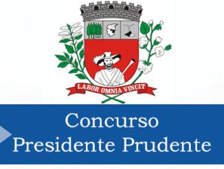 concurso prefeitura de presidente prudente